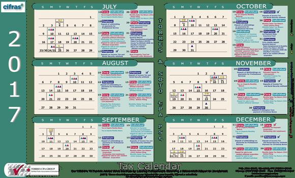 Calendario De Impuestos De Puerto Rico Torres Cpa